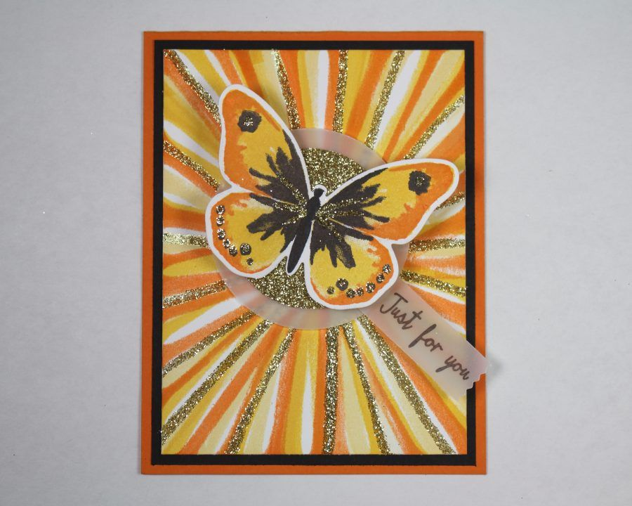 The Bouncing Brayer Starburst Technique Tutorial by CraftyPerson   #stampinup #techniques