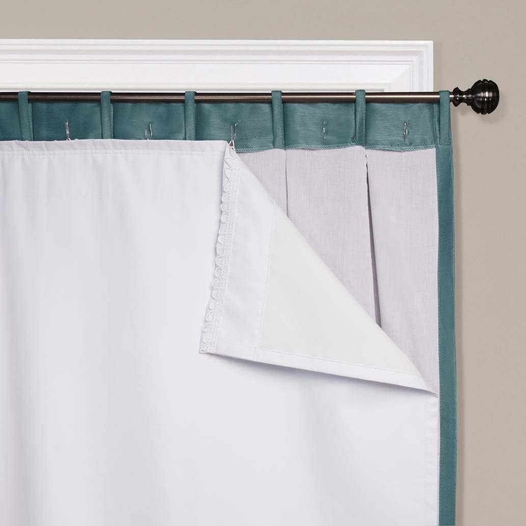 Product Image For SmartBlock™ Rod Pocket Insulating Blackout Curtain Liner  In White 2 Out Of