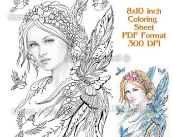 Fairy Flutters Line Art Form Fairy Tangles by FairyTangleArt
