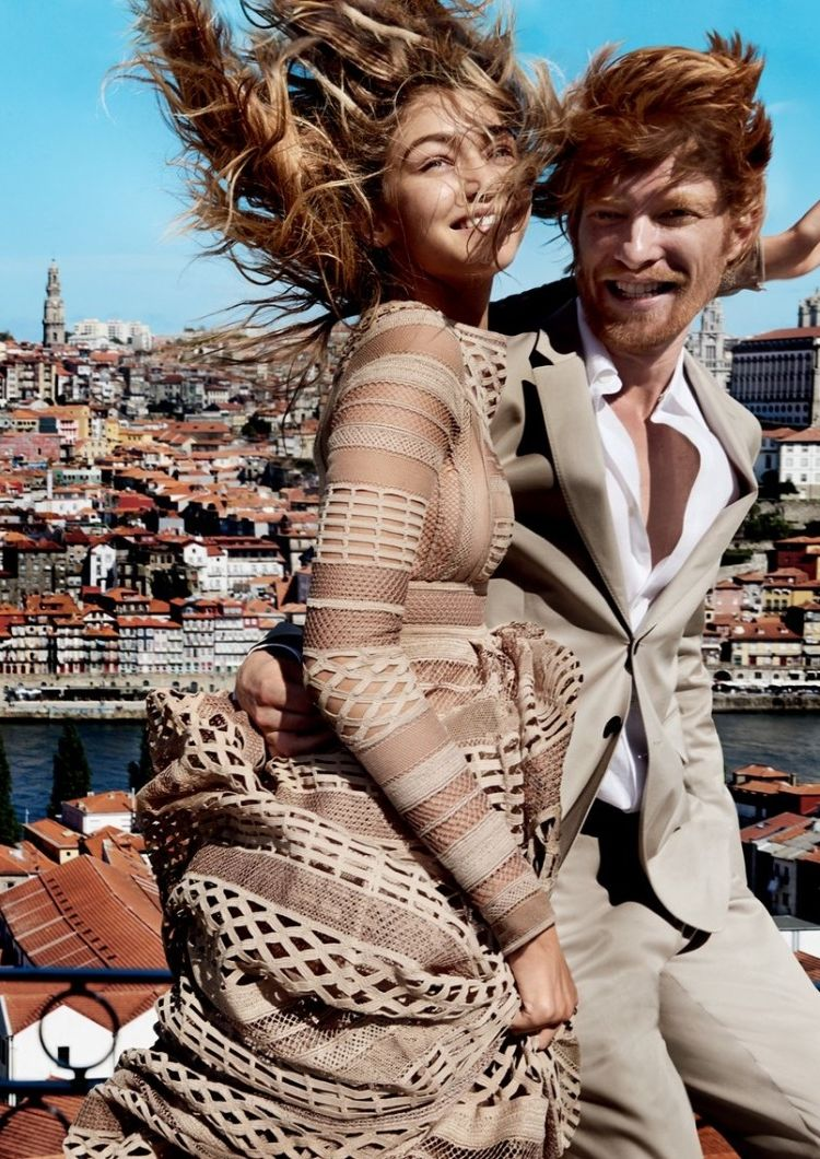 Gigi Hadid and Domhnall Gleeson Take the Perfect Winter Break in the ... 96adfded71b6