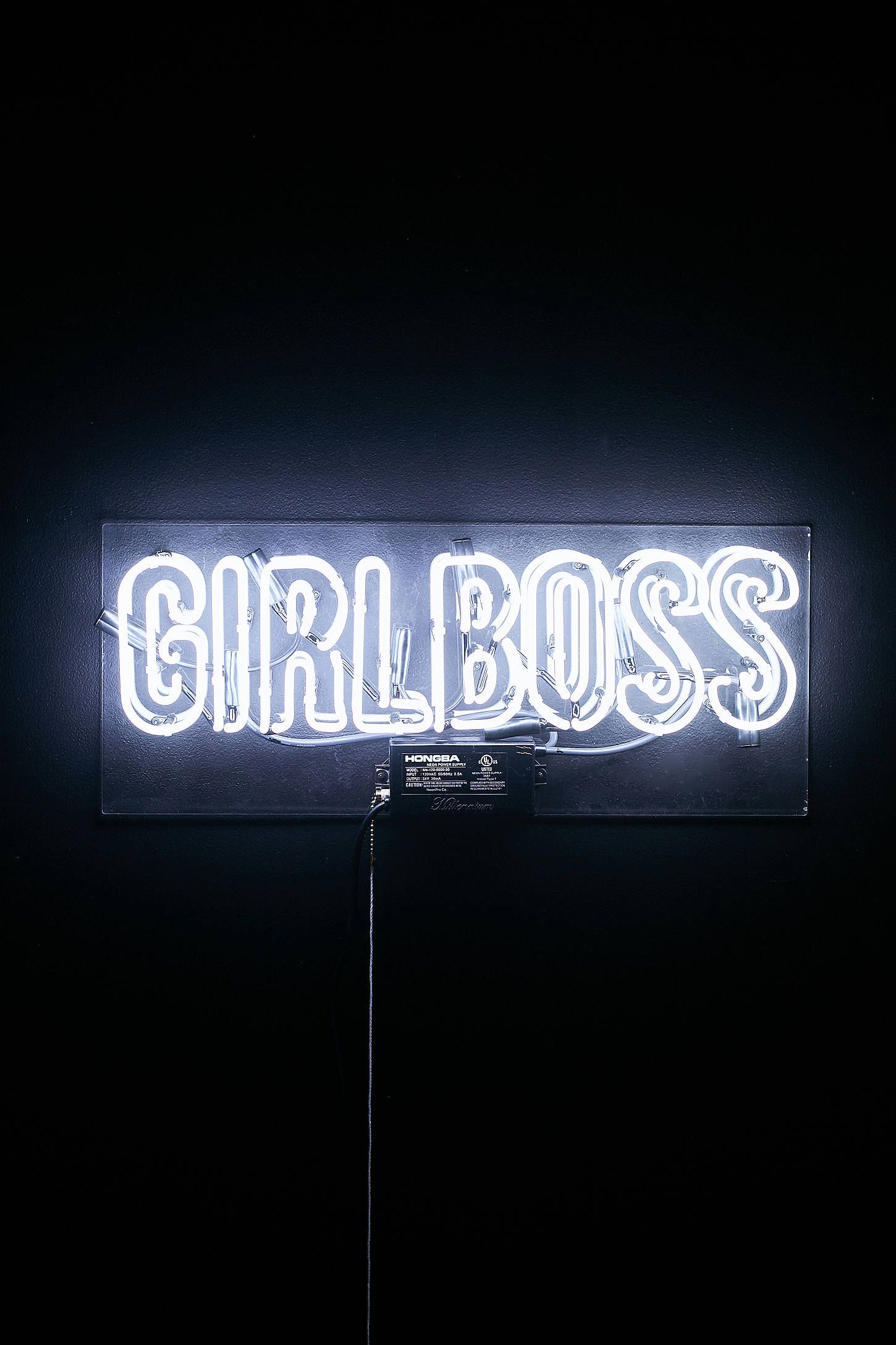 The Oliver Gal Artist Co Girlboss Neon Sign Neon Signs Neon Quotes Neon Sign Bedroom