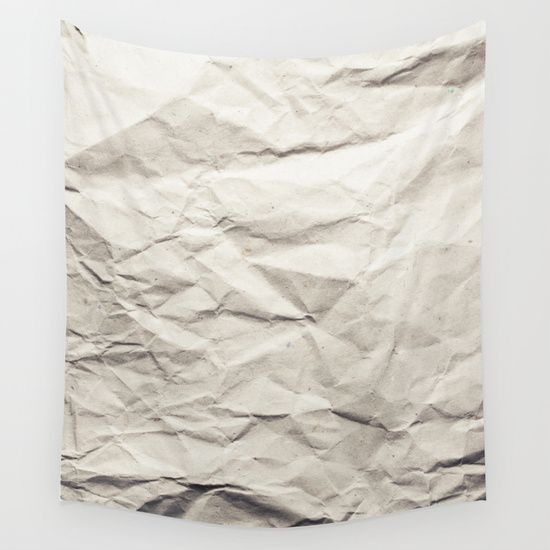 Buy Crumpled Paper Wall Tapestry By Patterns And Textures