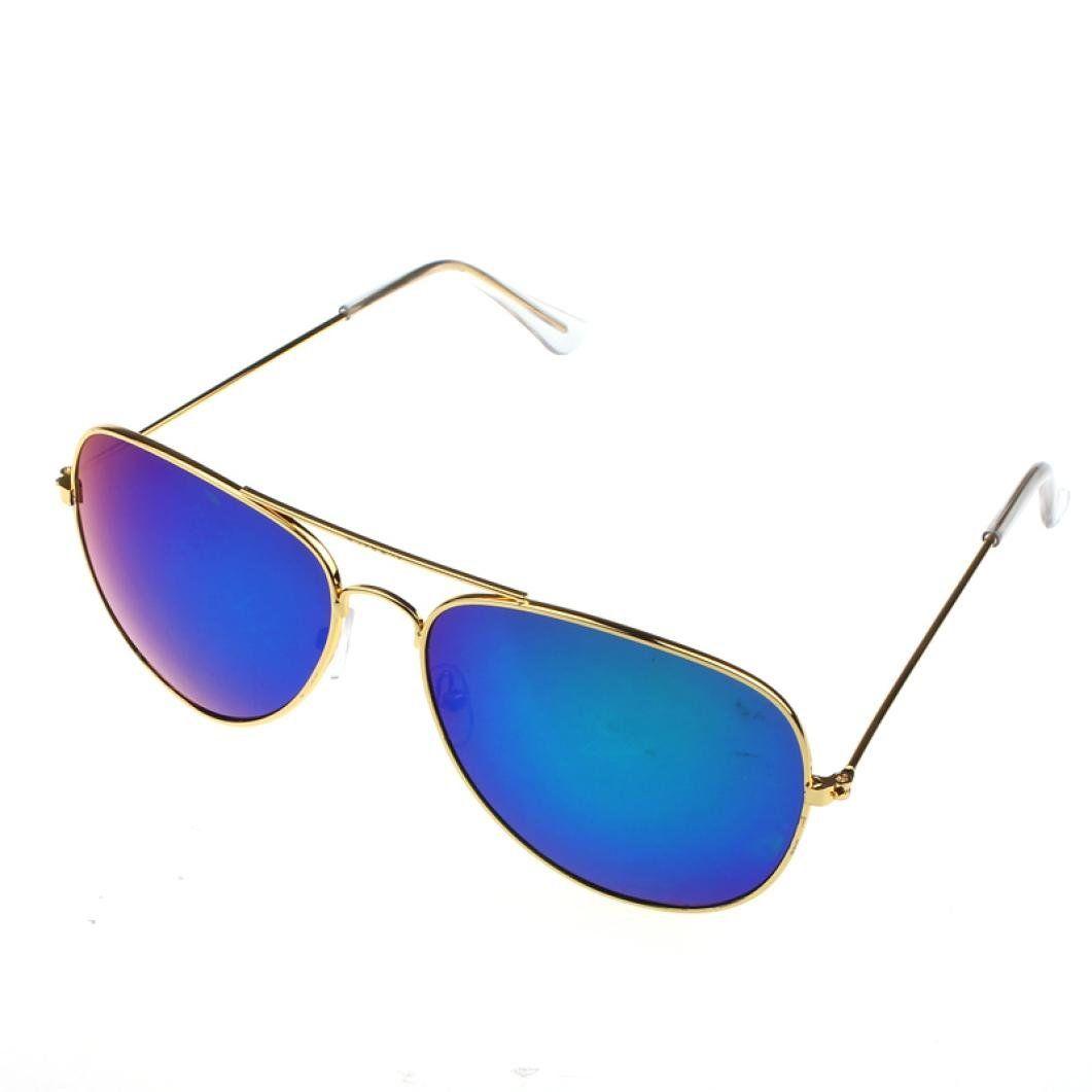 Voberry Women Men Classic Aviator Unisex Retro Sunglasses Metal