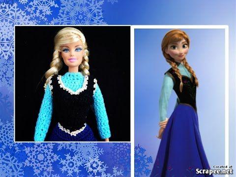 Croche Vestido Da Ana Frozen 13 Liiart Youtube