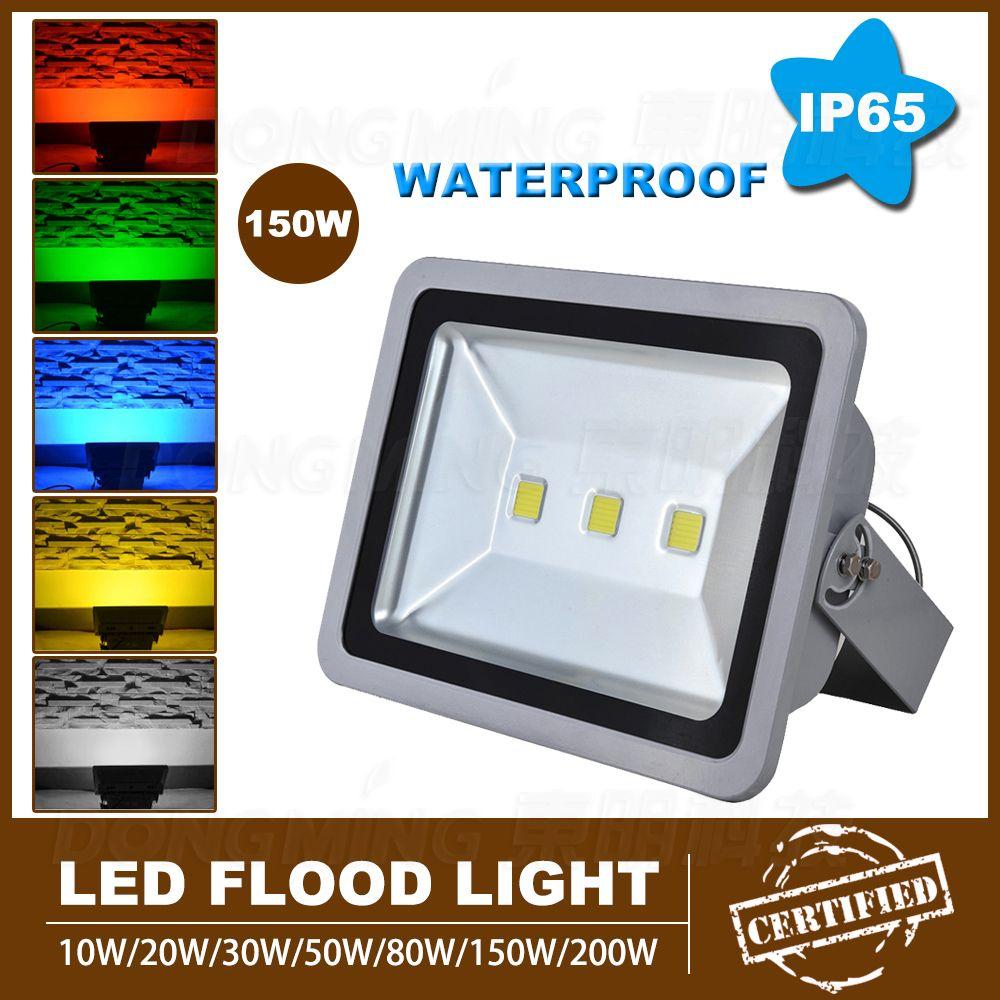 1pcs High Lumen 10000LM Led Flood Light Bulbs AC85 265V Led Spotlight 150W Led  Outdoor