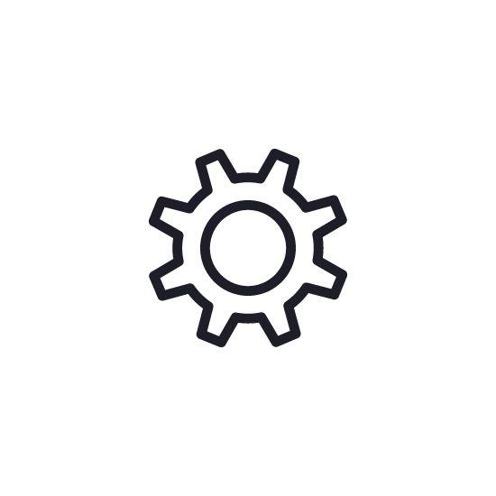 Cog Setting Gear Flat Icon