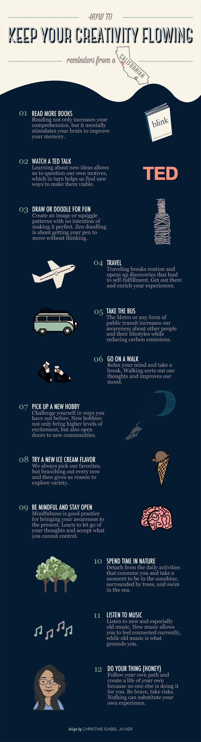 How To Keep Your Creativity Flowing: Reminders From A Californian [#Infographic]