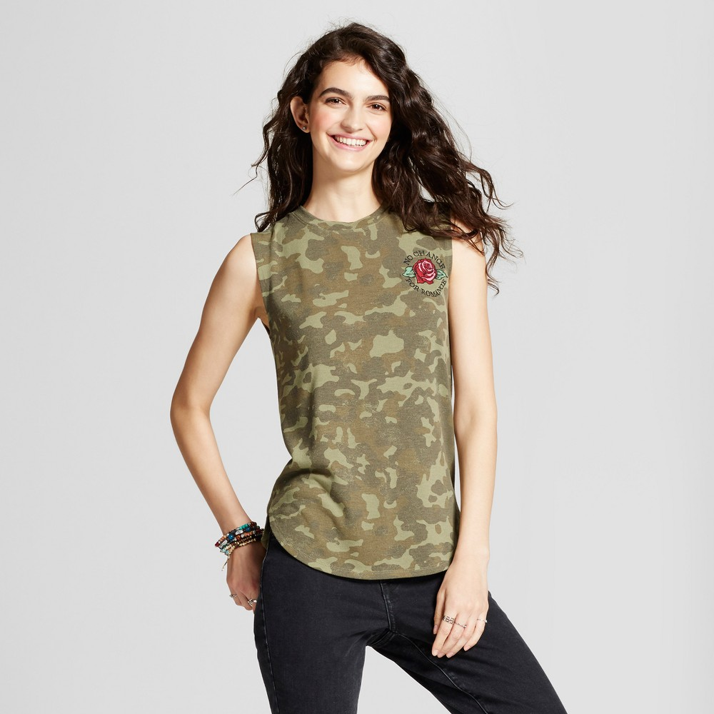 Women S No Chance For Romance Hacci Graphic Tank Top Camo