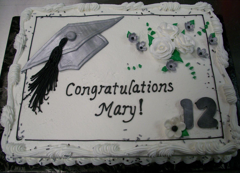 High School Graduation Blue Silver Sheet Cakes Graduation