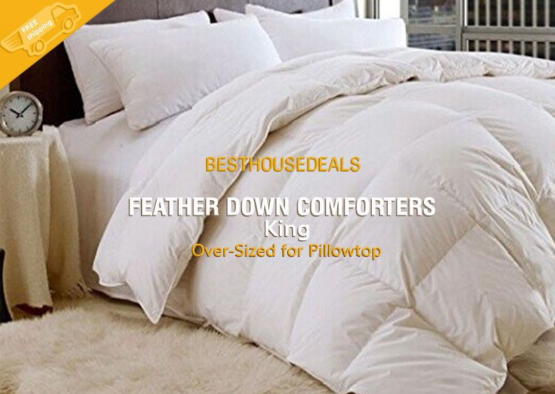 details about 100 white goose feather down comforters 955 bed bedding comforter king size