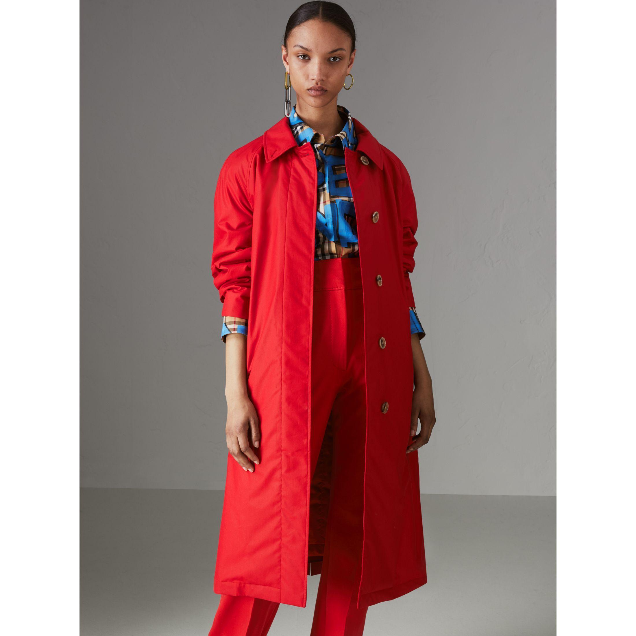 Abrigo tres cuartos extragrande en algodón (Rojo Desfile) - Mujer ...