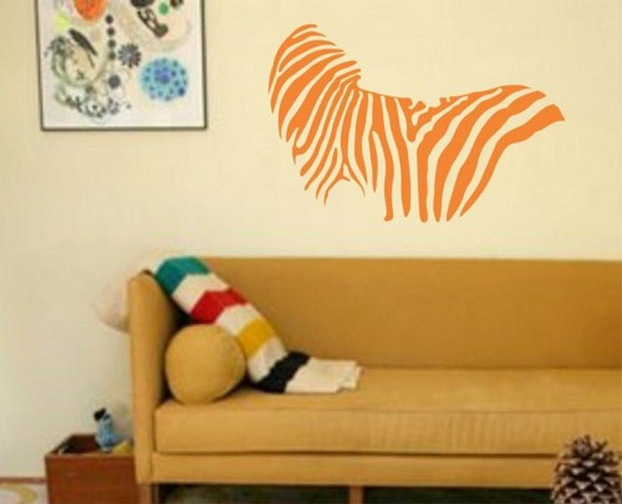 Orange Zebra Print Wall Decor For Nursery Ideas | Home decor and ...