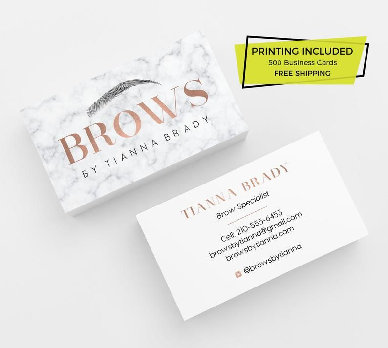 Marble Rose Gold Brow Business Cards 500 Printed Business Etsy In 2021 Rose Gold Business Card Printing Business Cards Beauty Business Cards