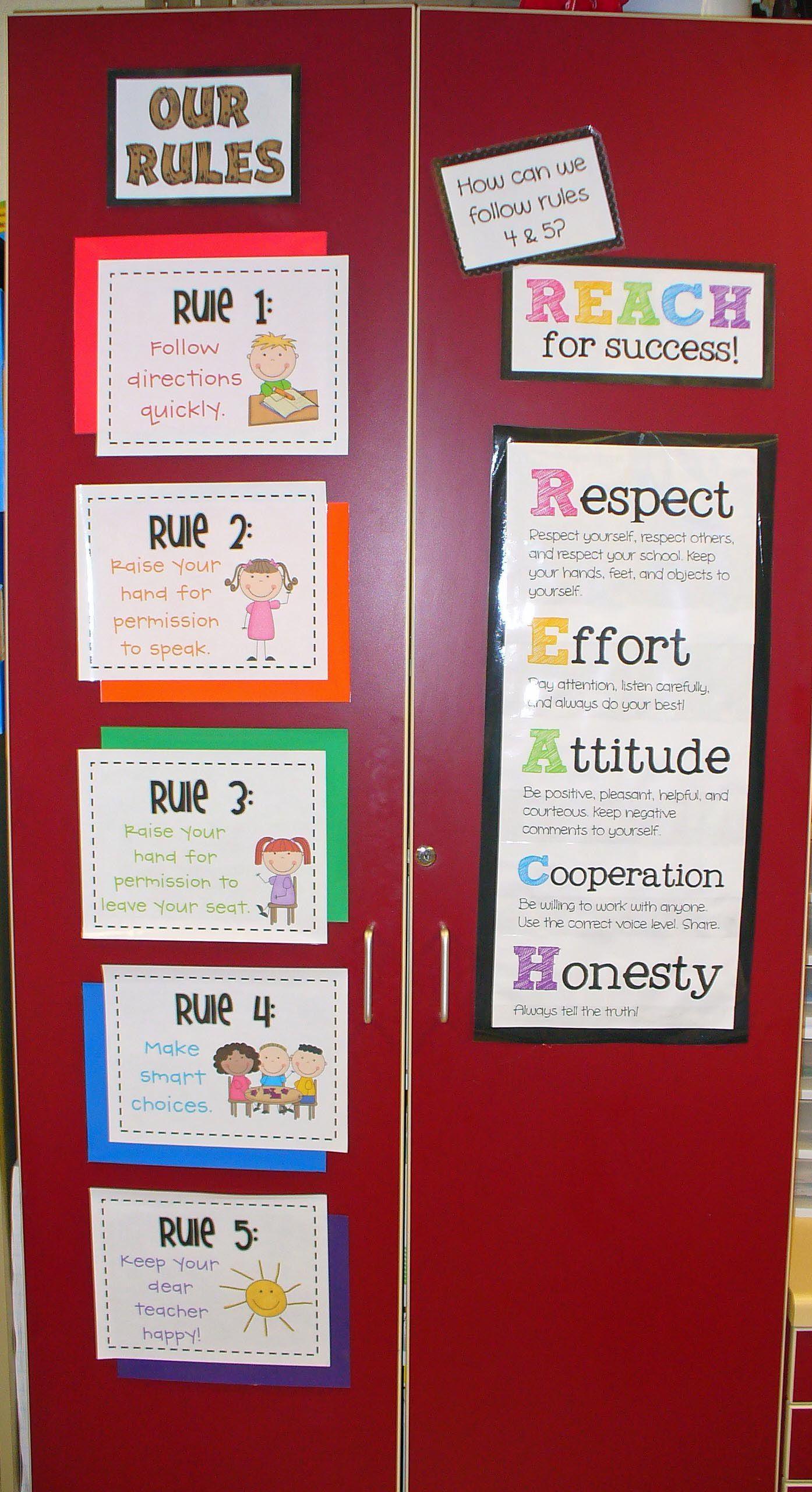 Whole Brain Teaching Rules Plus Reach Ke The Sign