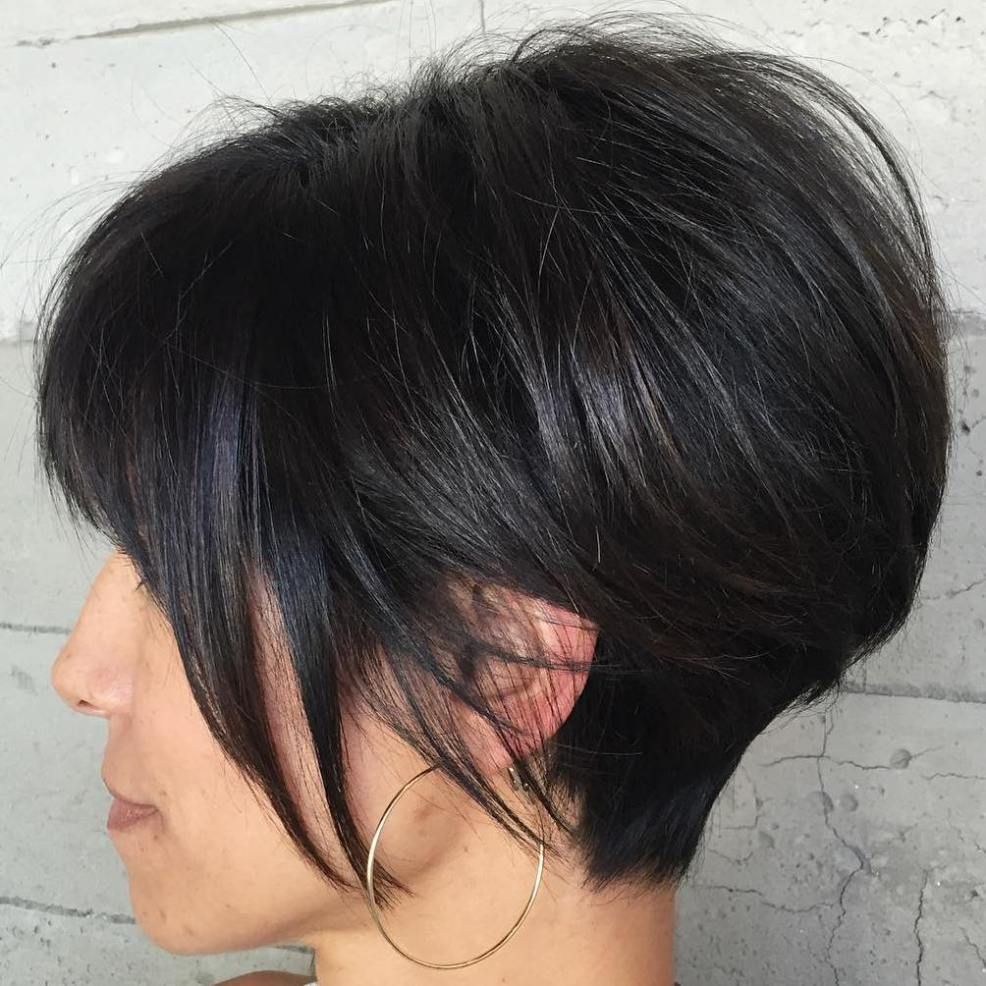 classy short haircuts and hairstyles for thick hair brunette