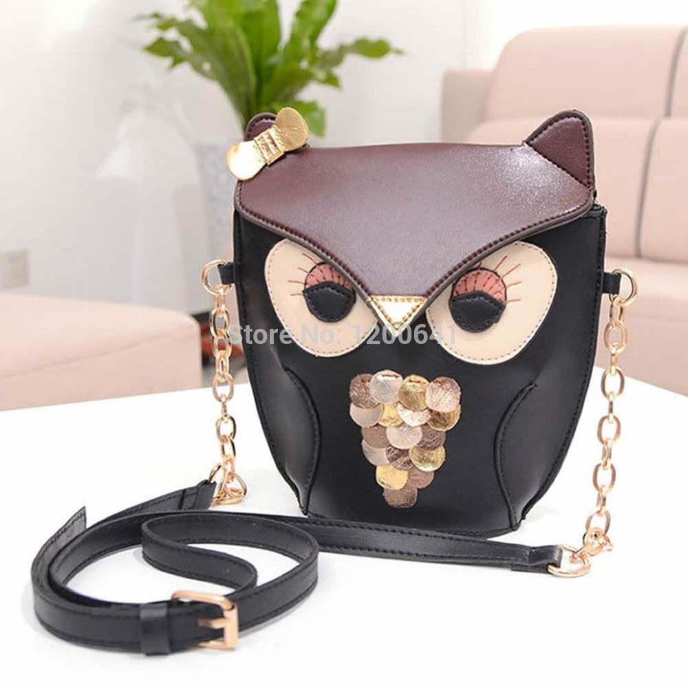 2127a730b6f New Women Owl Print Satchel PU Leather Messenger Cross Body Handbag  Shoulder Bag