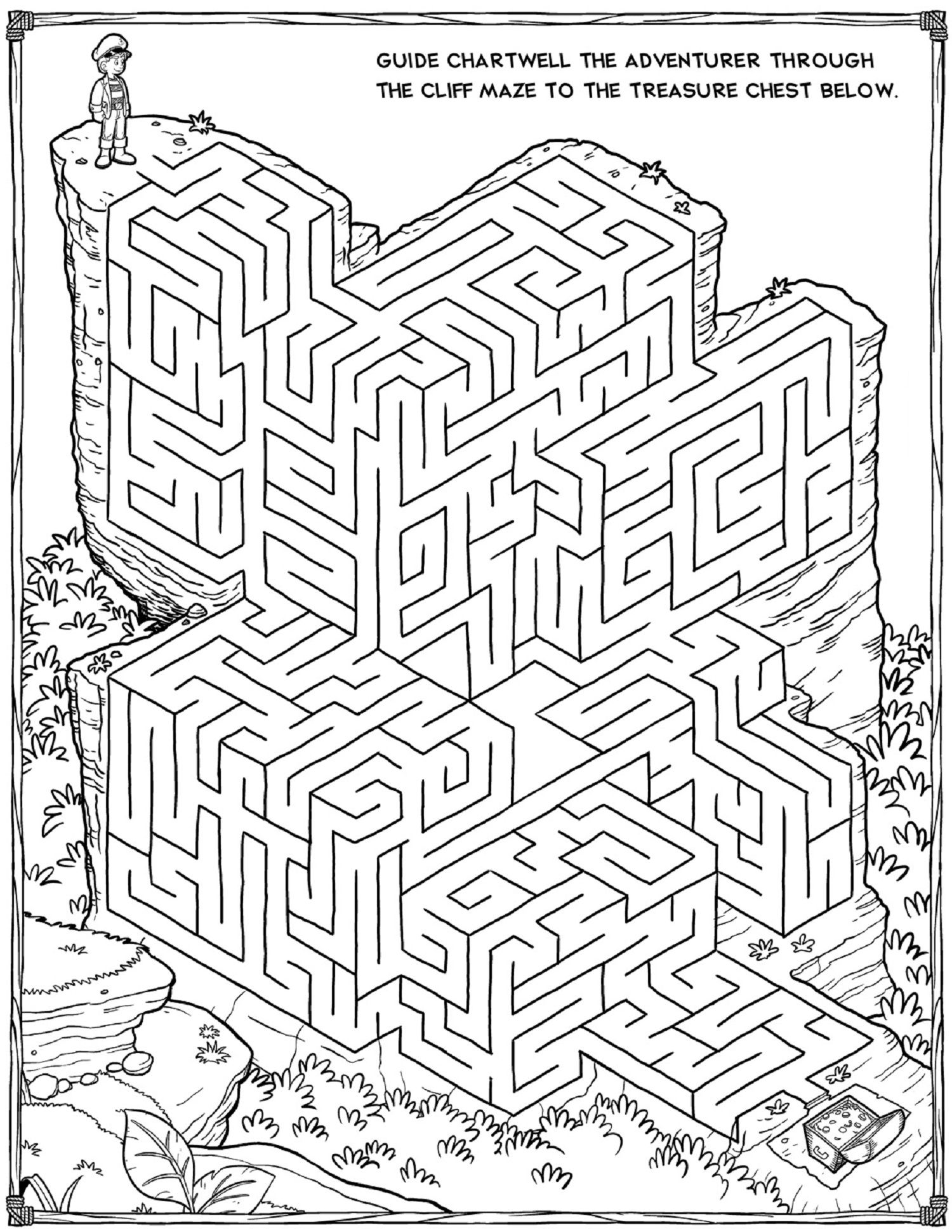 Printable Mazes For Adults For Brain Therapy And Practice Dear