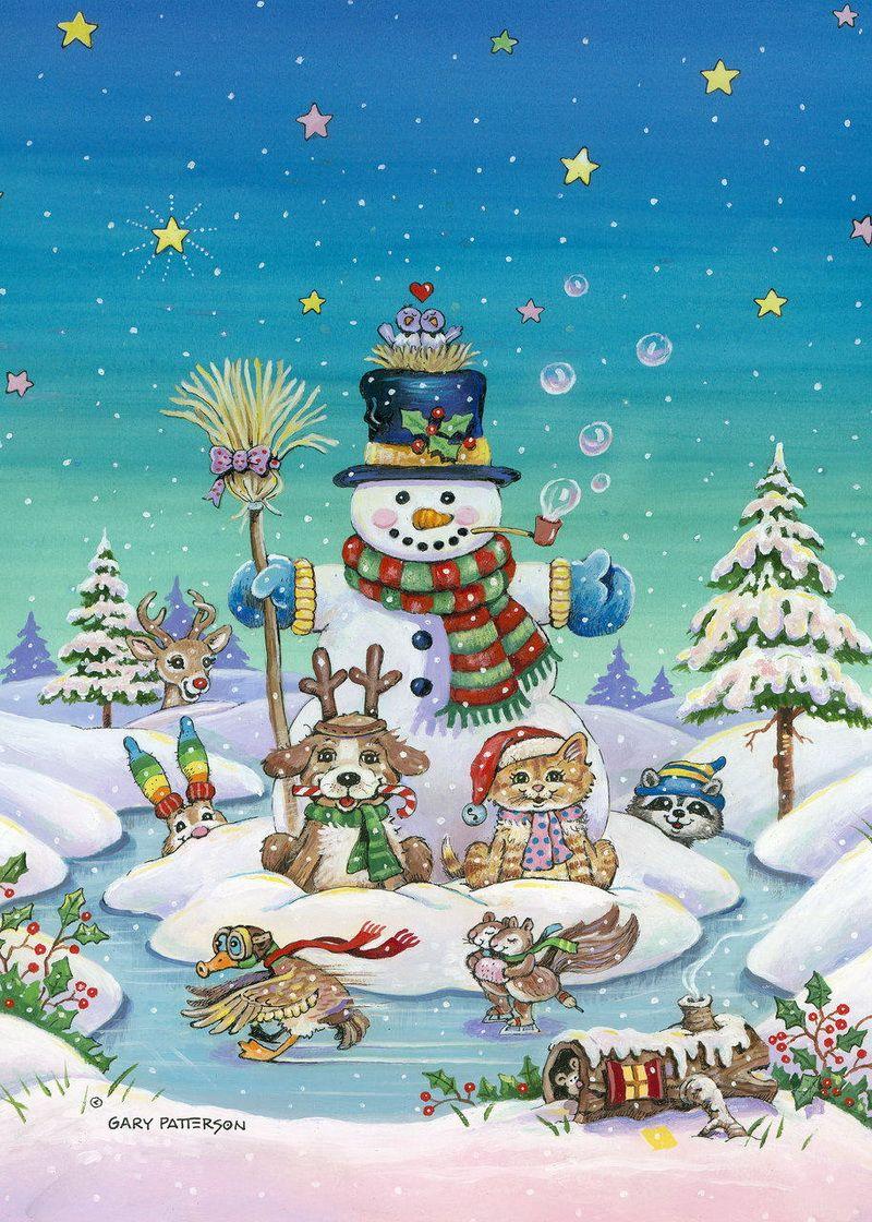 Картинки рисованные новый год для детей