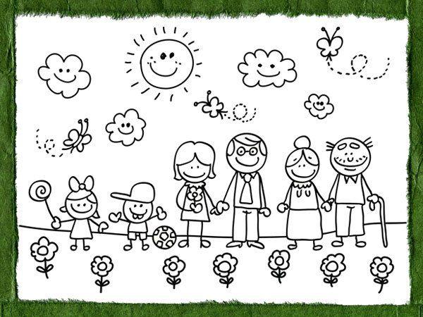 Dibujos para colorear sobre el medio ambiente y la familia | LA ...