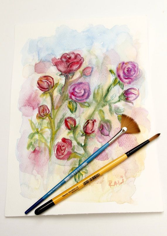 Watercolor Flowers Mothers Day Watercolor Bouquet Aquarelle