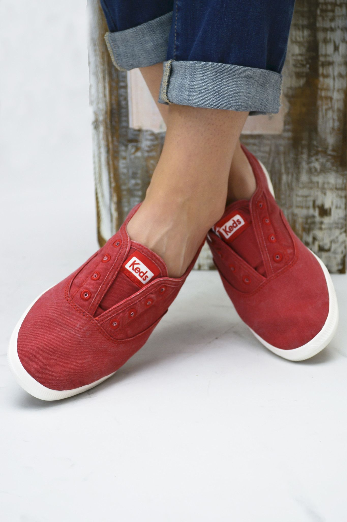 Chillax Washed Out Red Keds | Red keds