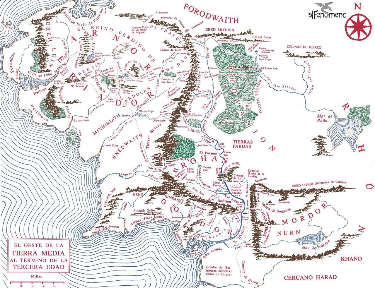 Mapa De La Tierra Media Multimedia Ilustraciones Dibujos Y