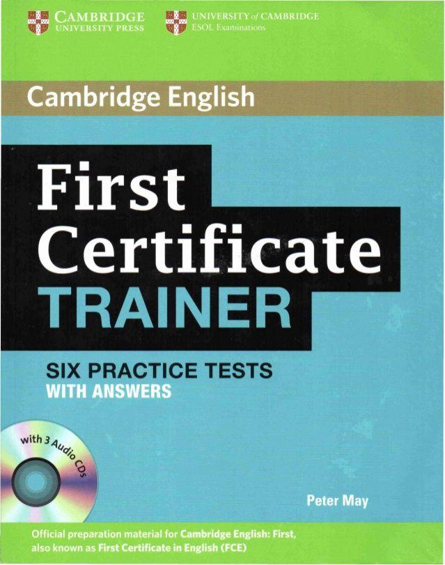 Six practice tests fce pinterest cambridge english cambridge first certificate trainer six practice test yadclub Gallery