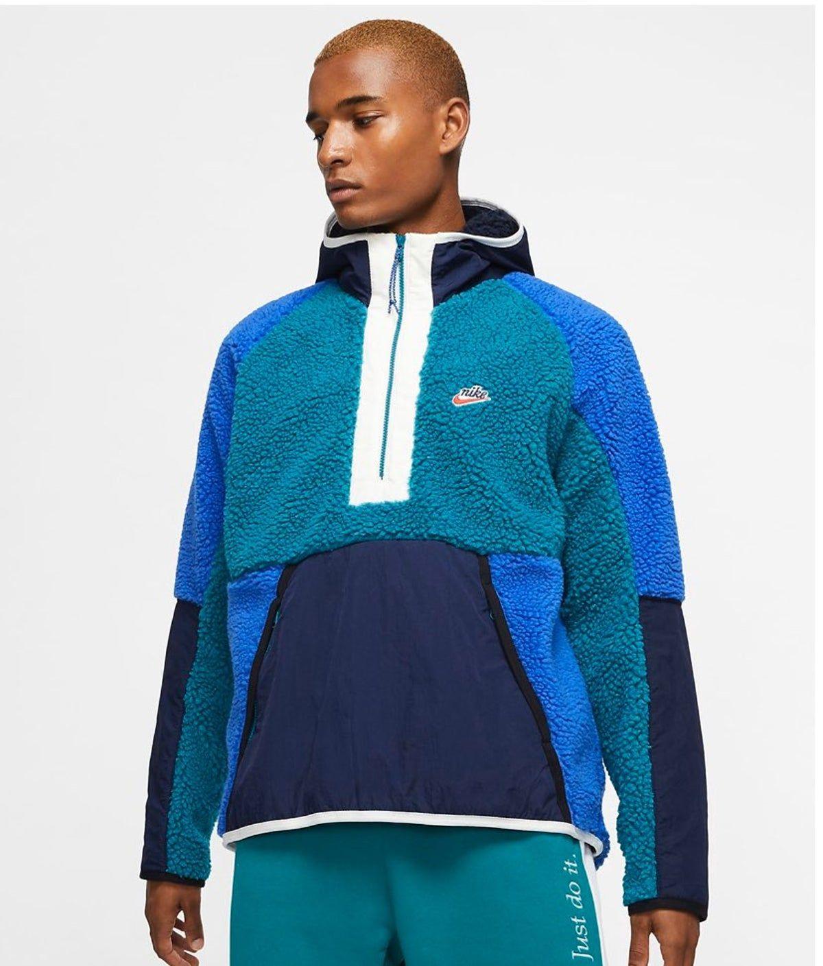 Nike 1 2 Zip Sherpa Hoodie Jacket Sz L In 2021 Mens Sweatshirts Hoodie Hoodies Men Sherpa Hoodie [ 1409 x 1200 Pixel ]