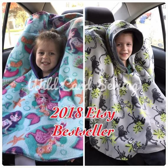 DIY Carseat Poncho for Boys #babyponcho