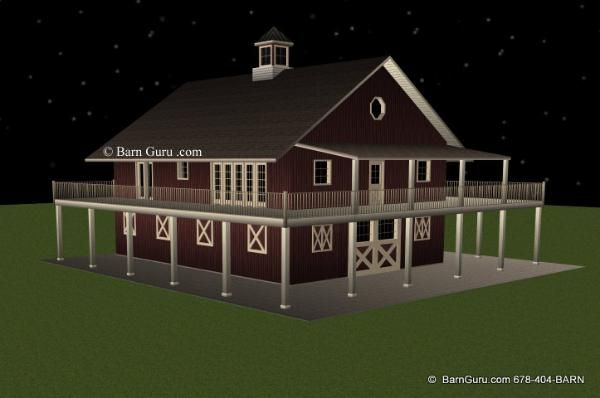 Nice Barn Plans   5 Stall Horse Barn With Tack And Feed Living Quarters. Horse  Barn Plans For Sale. Large Selection Of Horse Barn Plans For Sale.