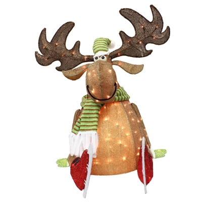 Holiday Living 36-in H Lighted Moose with 105 Incandescent Lights
