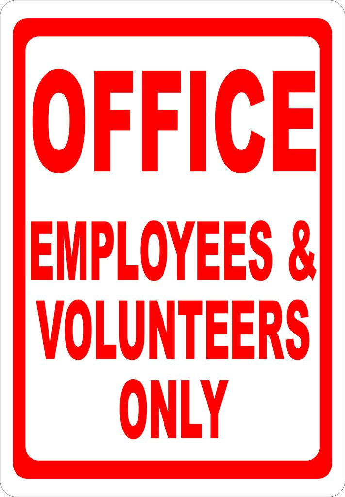Office Employees & Volunteers Only Sign in 2019   Rules