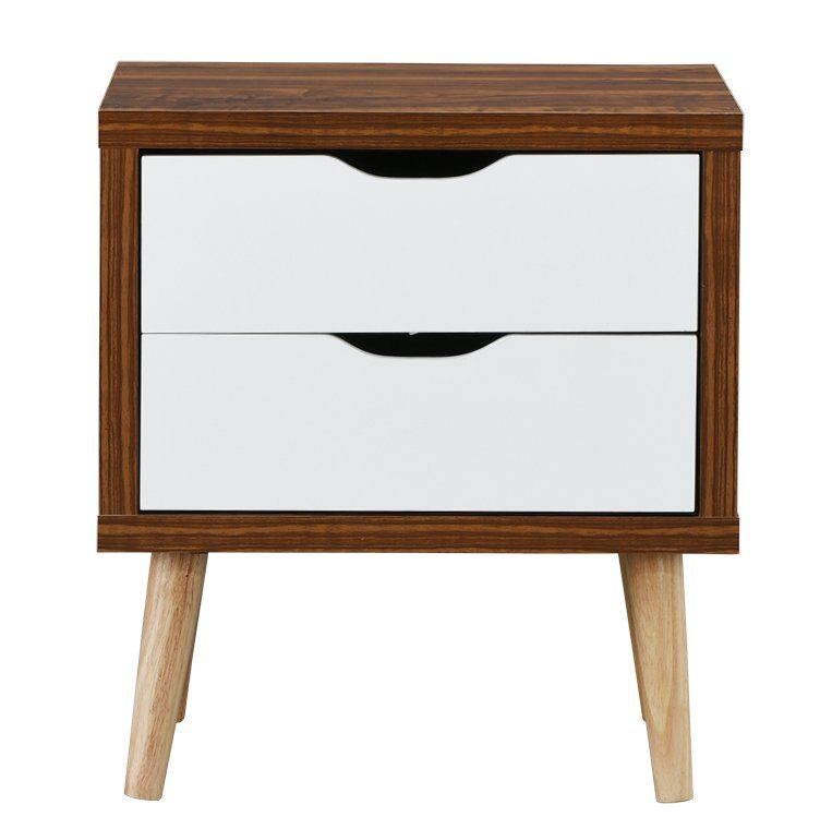 Waltrip Modern 2 Drawer Nightstand Painted Bedroom Furniture
