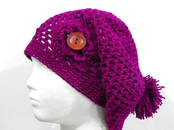 Crochet Pattern for Fantastic Slouchy Hat-Etsy Clothing-Etsy Women\'s ...