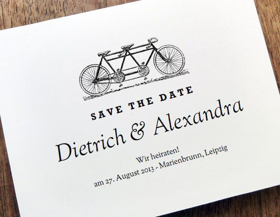 Printable Save The Date  Save The Date Card Template  Tandem