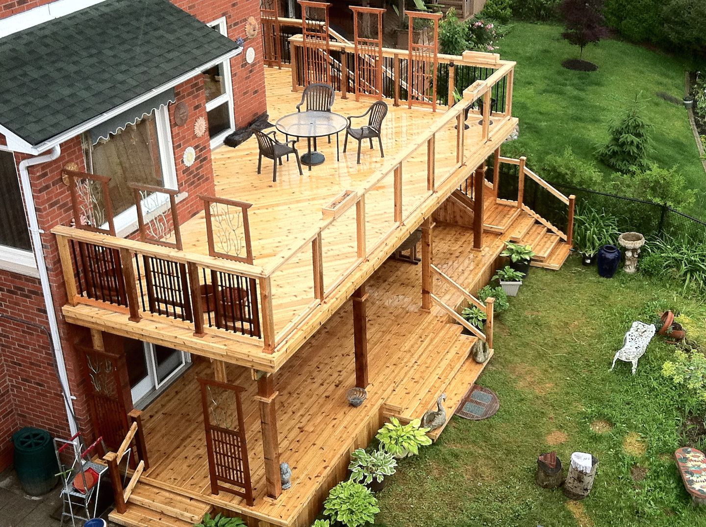 Best 25 two level deck ideas on pinterest backyard decks large multi level decks design and ideas baanklon Image collections