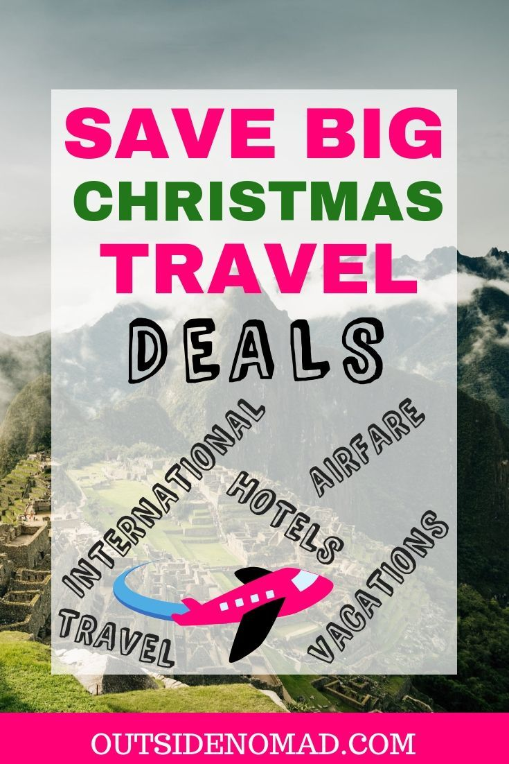 The holidays are a great time to score some cheap travel deals.  Give the gift of travel this Christmas.  From hotels to all-inclusive packages, Christmas is a great time for discount travel.  Deals for any budget.  Save big on travel.