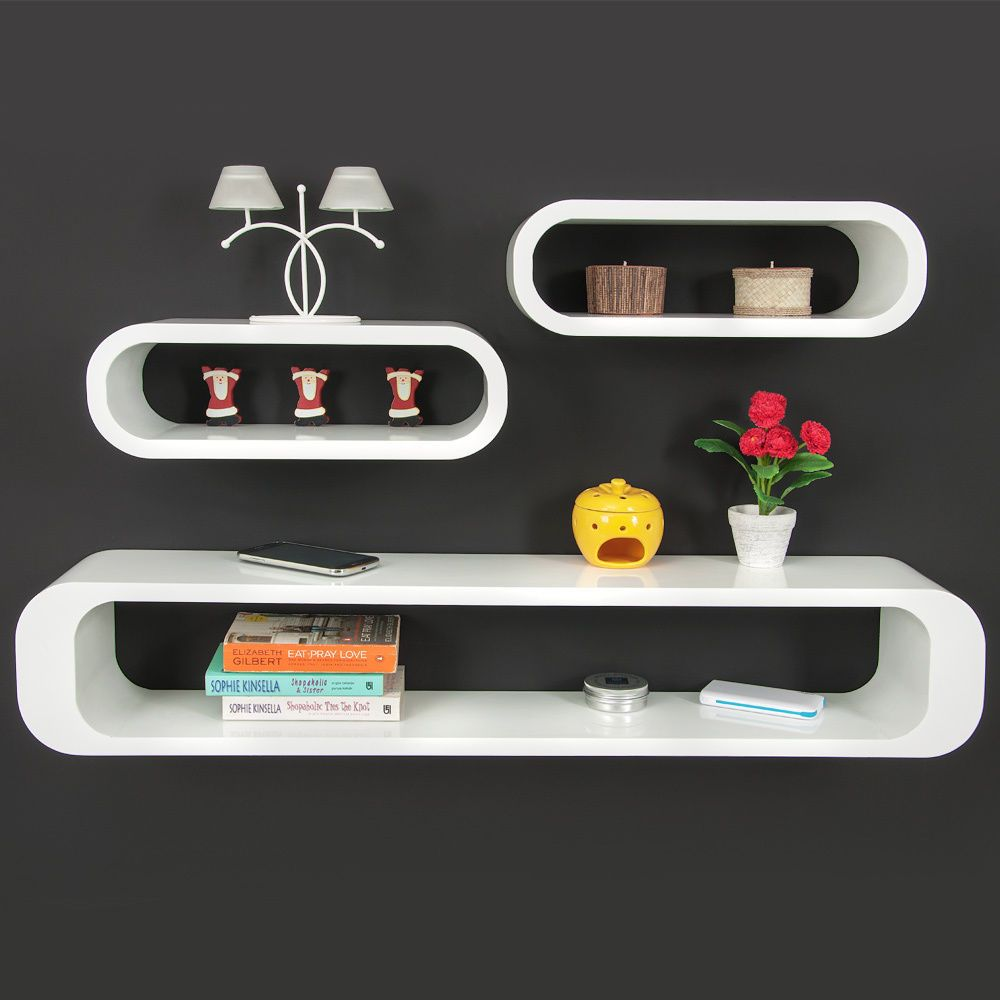 Cube Set Of 3 Diffe Storage Shelving Units In Retro
