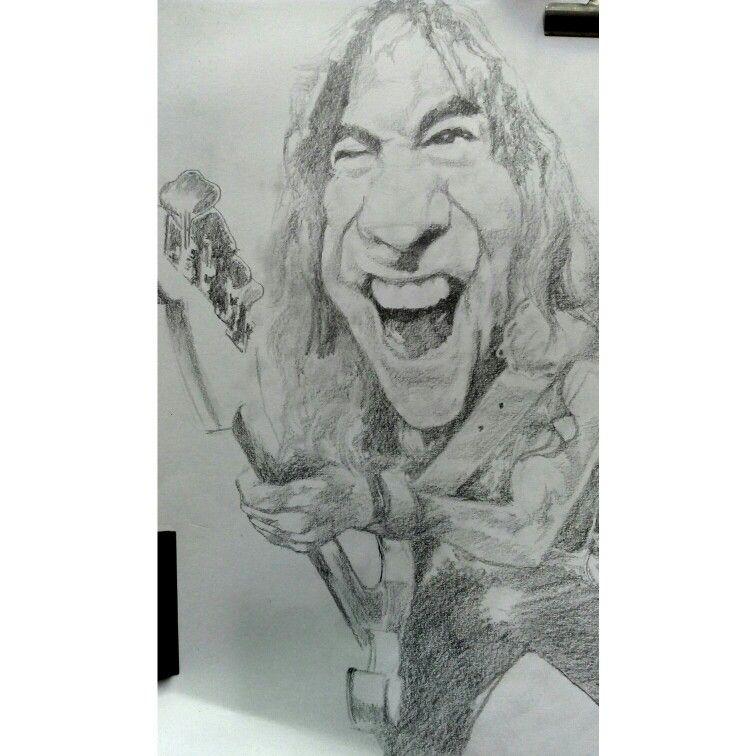 Steve Harris Sketches Caricature World Famous