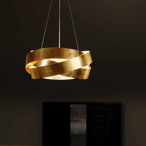 el gante suspension pura avec feuille dor e restaurant bar. Black Bedroom Furniture Sets. Home Design Ideas