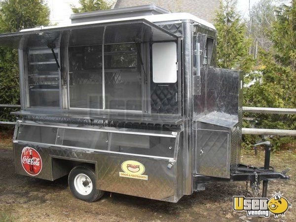 Stainless Commuter Food Concession Trailer For Sale In New