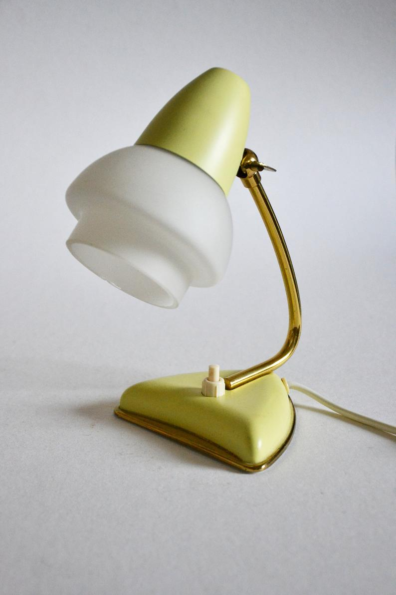 Mid Century Bedside Lamps 1950s 1960s Pair Of Small Lamps