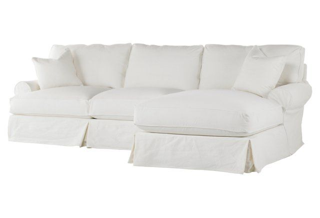 The Perfect All White Sectional Sectional Slipcover Comfy Sectional Shabby Chic Couch