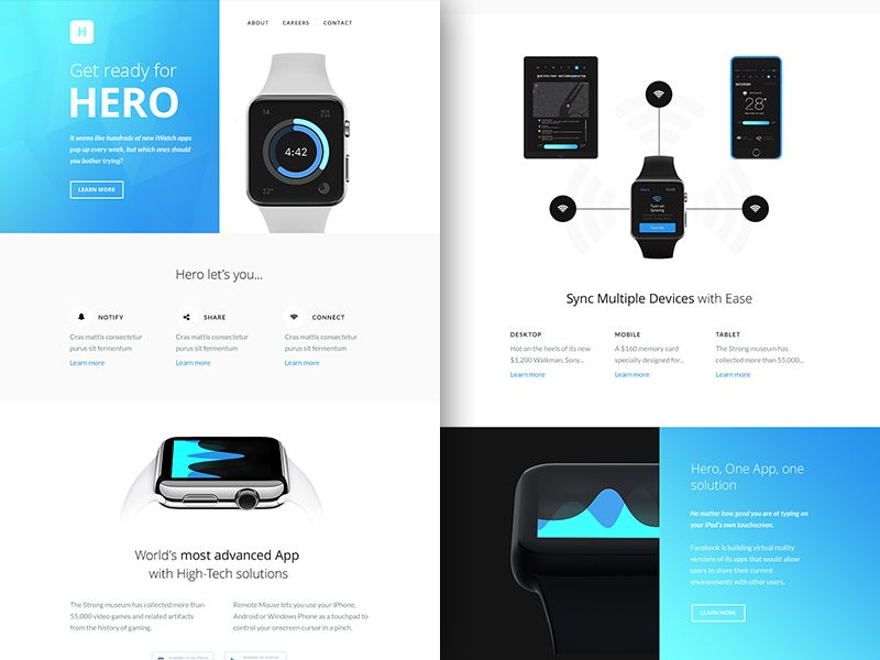 Hero Email Template - Free sketch resource for download #sketchhint - app templates free