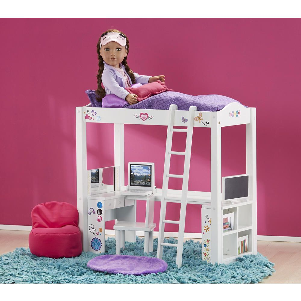 Journey Girls Wood Bed And Desk Combo Journey Girls Toy