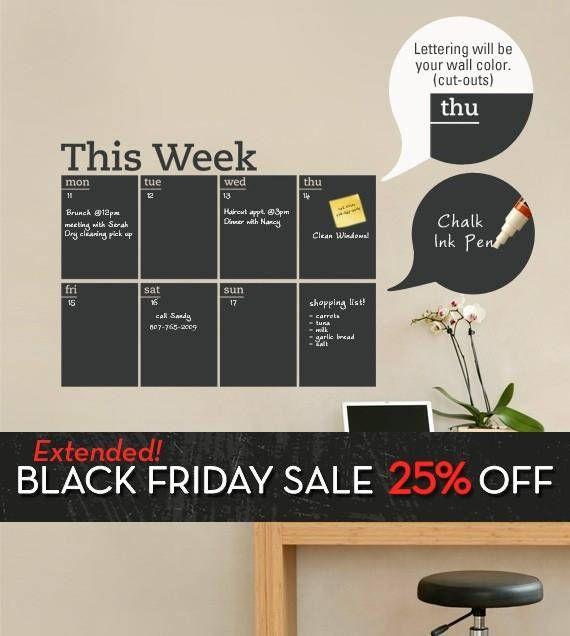 Wandfarbe Tafel diese tafel schreiben und löschen wöchentlich planer aufkleber ist