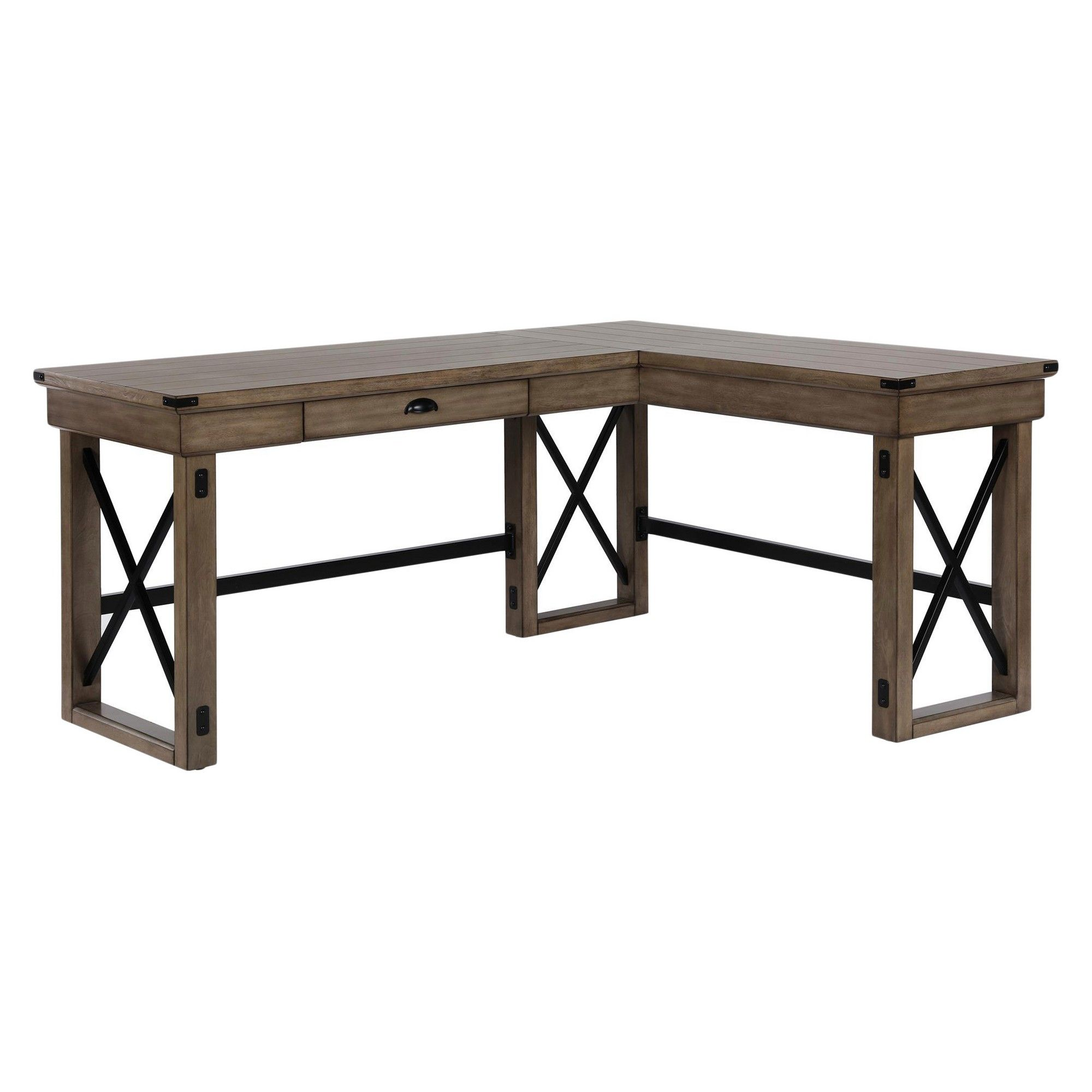Marvelous Hathaway L Shaped Desk With Lift Top Rustic Gray Room Interior Design Ideas Jittwwsoteloinfo