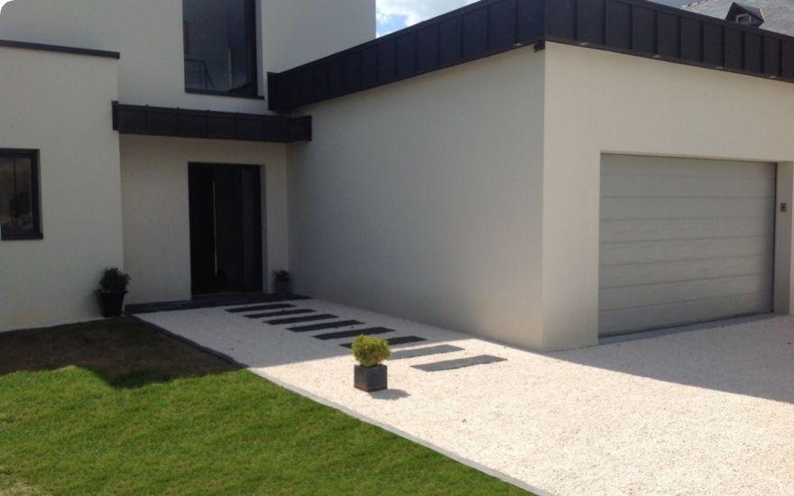 Entrée de maison en Alvéostar® - Entreprise Jouin Pays-de-la-Loire