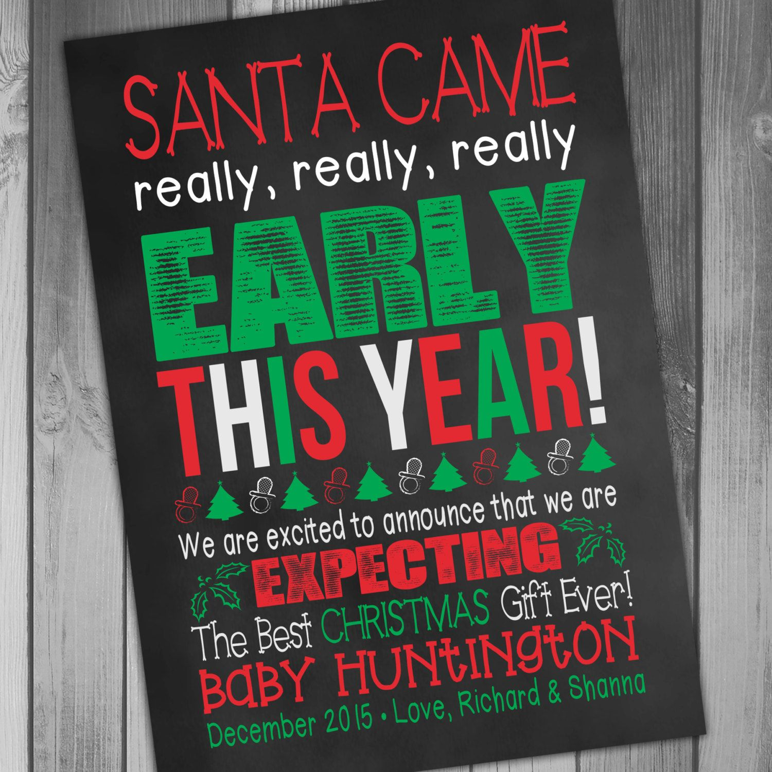 17 Best images about Pregnancy announcement – Christmas Baby Pregnancy Announcement