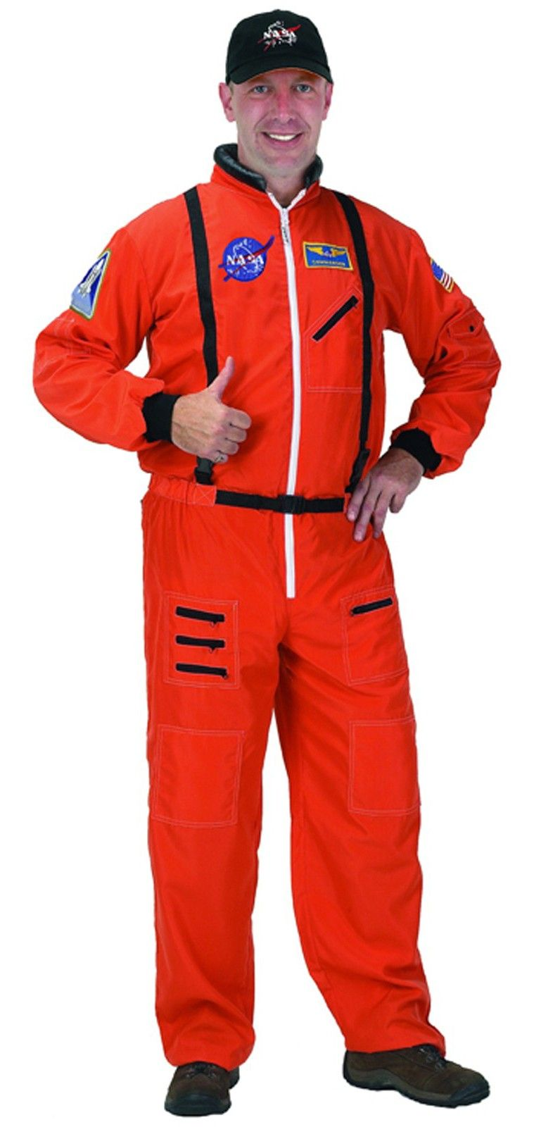 428878c8446f NASA Astronaut Orange Suit Adult Costume One Size